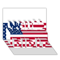 Usa1 You Did It 3d Greeting Card (7x5)