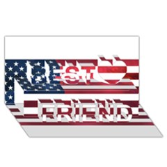 Usa2 Best Friends 3d Greeting Card (8x4)
