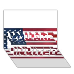 Usa2 You Are Invited 3d Greeting Card (7x5)