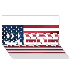 Usa2 #1 Mom 3d Greeting Cards (8x4)