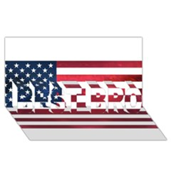 Usa2 BEST BRO 3D Greeting Card (8x4)