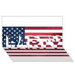 Usa2 Party 3d Greeting Card (8x4)