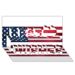 Usa2 Best Wish 3d Greeting Card (8x4)