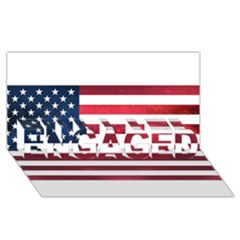 Usa2 Engaged 3d Greeting Card (8x4)