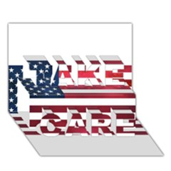 Usa2 TAKE CARE 3D Greeting Card (7x5)