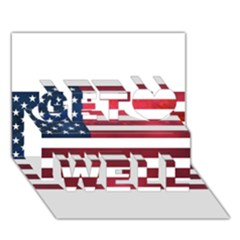 Usa2 Get Well 3d Greeting Card (7x5)