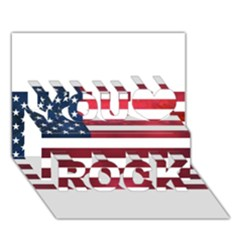Usa2 You Rock 3D Greeting Card (7x5)