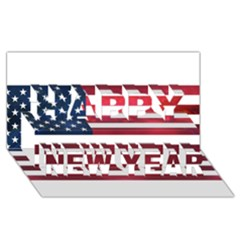 Usa2 Happy New Year 3D Greeting Card (8x4)