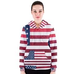 Usa2 Women s Zipper Hoodies