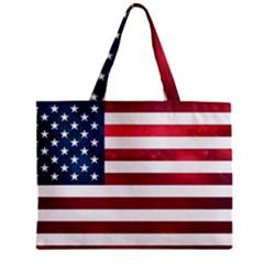 Usa2 Zipper Tiny Tote Bags