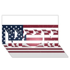 Usa3 MOM 3D Greeting Card (8x4)