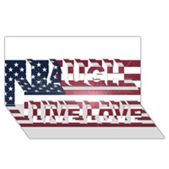 Usa3 Laugh Live Love 3D Greeting Card (8x4)