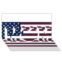 Usa4 Mom 3d Greeting Card (8x4)