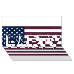 Usa4 Party 3d Greeting Card (8x4)