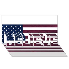 Usa4 Believe 3d Greeting Card (8x4)