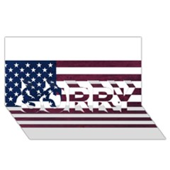 Usa4 Sorry 3d Greeting Card (8x4)