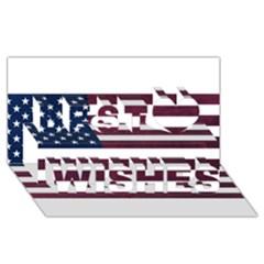 Usa4 Best Wish 3D Greeting Card (8x4)