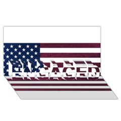 Usa4 Engaged 3d Greeting Card (8x4)