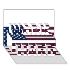 Usa4 Work Hard 3d Greeting Card (7x5)