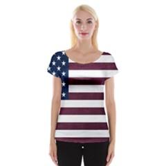 Usa4 Women s Cap Sleeve Top