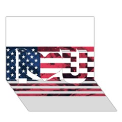 Usa5 I Love You 3D Greeting Card (7x5)