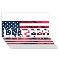Usa5 BEST BRO 3D Greeting Card (8x4)
