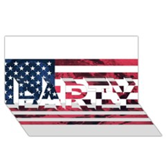 Usa5 Party 3d Greeting Card (8x4)