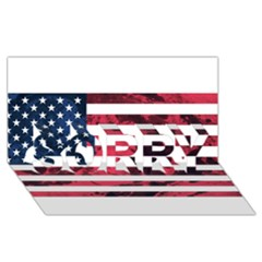 Usa5 Sorry 3d Greeting Card (8x4)