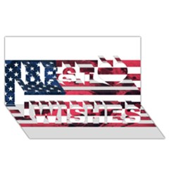 Usa5 Best Wish 3d Greeting Card (8x4)
