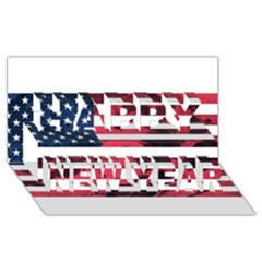Usa5 Happy New Year 3d Greeting Card (8x4)