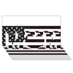 Usa6 Mom 3d Greeting Card (8x4)