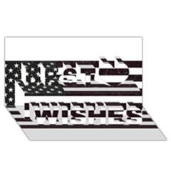 Usa6 Best Wish 3D Greeting Card (8x4)