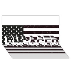 Usa6 Engaged 3d Greeting Card (8x4)