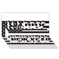 Usa6 Happy New Year 3D Greeting Card (8x4)