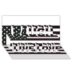 Usa6 Laugh Live Love 3D Greeting Card (8x4)