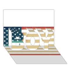 Usa7 BOY 3D Greeting Card (7x5)
