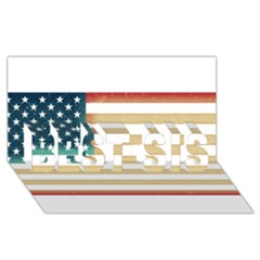 Usa7 BEST SIS 3D Greeting Card (8x4)