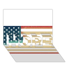 Usa7 HOPE 3D Greeting Card (7x5)