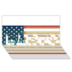 Usa7 PARTY 3D Greeting Card (8x4)