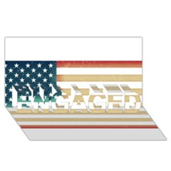 Usa7 ENGAGED 3D Greeting Card (8x4)