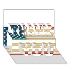 Usa7 THANK YOU 3D Greeting Card (7x5)