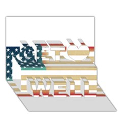 Usa7 Get Well 3d Greeting Card (7x5)