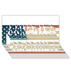 Usa7 Congrats Graduate 3D Greeting Card (8x4)