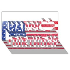 Usa8 Happy Birthday 3D Greeting Card (8x4)