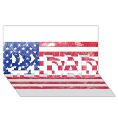 Usa8 #1 Dad 3d Greeting Card (8x4)