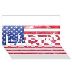 Usa8 Party 3d Greeting Card (8x4)