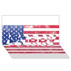 Usa8 SORRY 3D Greeting Card (8x4)