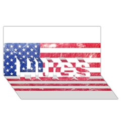 Usa8 HUGS 3D Greeting Card (8x4)