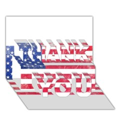 Usa8 Thank You 3d Greeting Card (7x5)