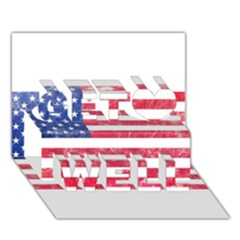 Usa8 Get Well 3D Greeting Card (7x5)